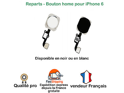 Nappe Complet + Bouton Home Iphone 6 Noir Blanc