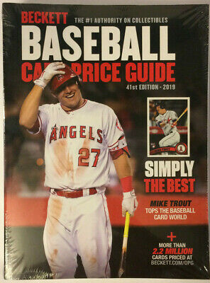 New Beckett Baseball Card 2019 Annual Price Guide 41st Edition #41 w/ Mike Trout