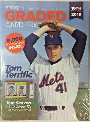 New Beckett Graded Card Price Guide 16th Edition 2019 With Tom Seaver On Cover