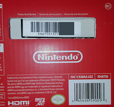 Nintendo Switch 32GB console Hackable Homebrew Firmware 4.1.0 UNPATCHED NEW NIB