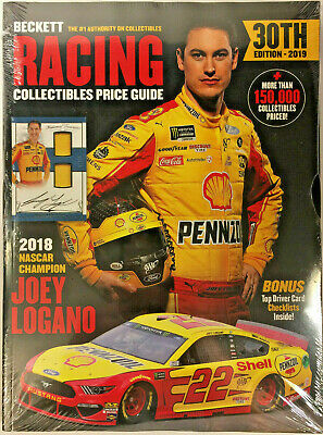 New Beckett Racing Collectibles Price Guide 30th Edition 2019 With Joey Logano