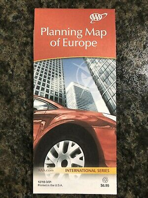 AAA PLANNING MAP OF EUROPE International Travel Map 2018-2021