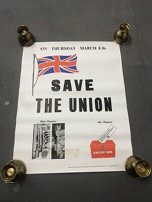Original 'Save The Union' DUP Election Political Poster British Irish