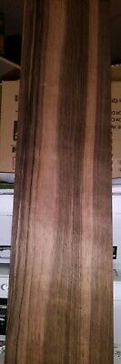 "Ebony raw wood veneer 23"" x 6"" raw wood grain  5"" crack"