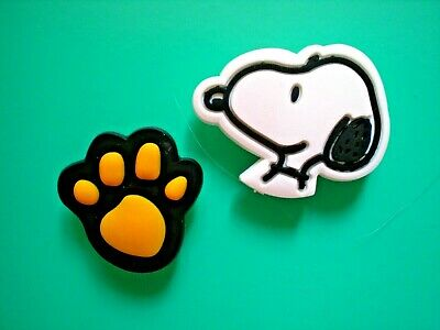 Snoopy Paw Shoe Charm Button Cake Topper Accessories For band