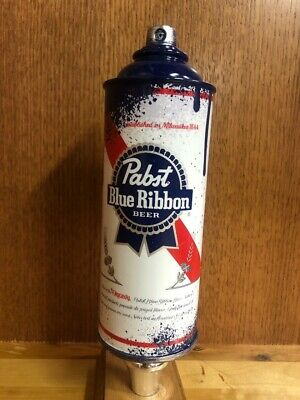 *NEW in BOX* Pabst Blue Ribbon (PBR) Tap Handle - Spray Paint Can
