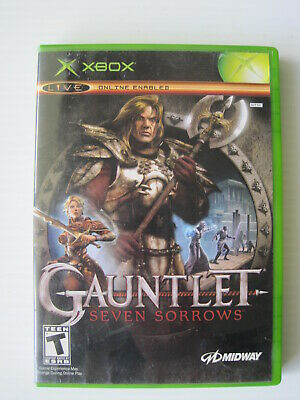Gauntlet Seven Sorrows (Xbox,2005) English & French Instruction Manuals