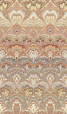 Engblad & Co by Brewster 2825-6387 Lounge Luxe Taichung Orange Ogee Wallpaper