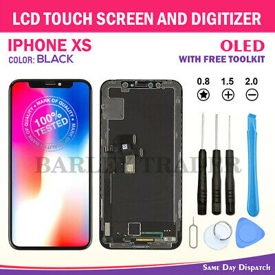 For iPhone XS Replacement OLED AMOLED Screen LCD Touch Digitizer Assembly Black