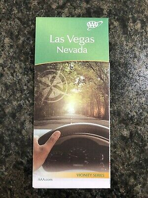 LAS VEGAS, Nevada City Map Vicinity Series Travel ROAD MAP Roadmap 2017-2020 AAA