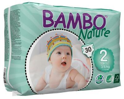 Bambo Nature Nappies Size 2 Mini 3-6kg - 30 Pack