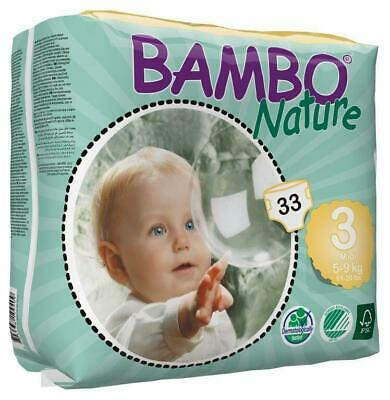 Bambo Nature Nappies Size 3 Midi 5-9kg - 33 Pack