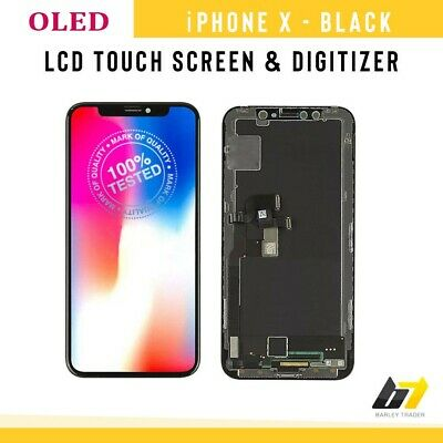 For iPhone X OLED AMOLED Screen LCD Touch Display Assembly Replacement Black