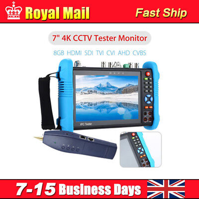 "7"" 4K CCTV IP Tester Monitor 8GB HDMI SDI CVBS Camera PTZ Test WIFI Onvif HOT"