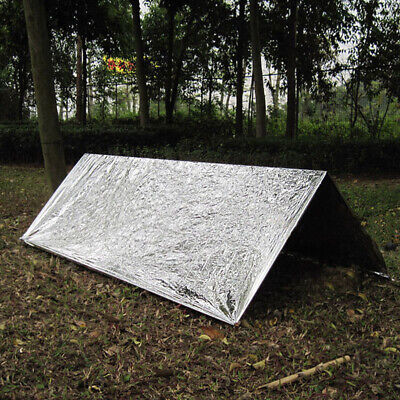 Gear Emergency Tent Silver Camping Survival Shelter Outdoor Convenient