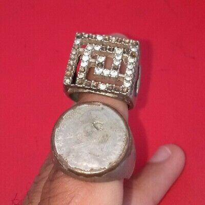 Stunning Unique Ancient Roman Silver 2 ring Senatorial Legionary museum artifact
