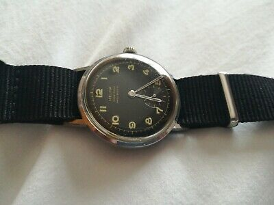 Vintage Rare Gents Helma Prazision Military Style Watch With Subsidiary Dial....