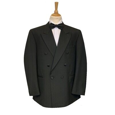 Mens Black Double Breasted Evening/Tuxedo Cruise/Ball Dinner Jacket