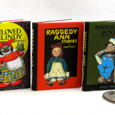 RAGGEDY ANN Book in 1:6 Scale Miniature Readable Illustrated book