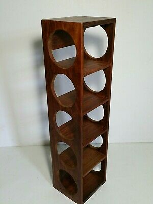 Vintage Mid Century Modern Retro Wood Mini Wall Display Shelf Curio