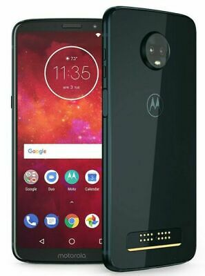 Motorola Moto Z3 Play XT1929-3 32GB Indigo Sprint 9/10 GSM Unlocked Burn