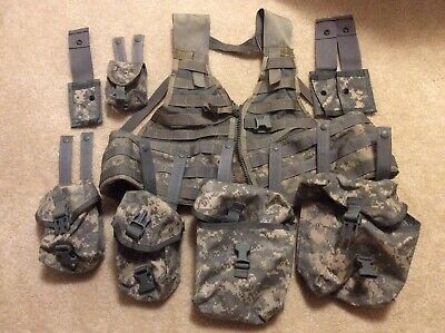 Tactical Fighting Load Carrier Vest MOLLE Army Military Used With Pouches