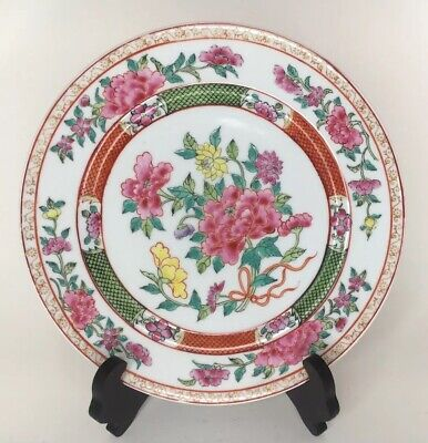 Antique Samson Edme Chinese Export Style Famille Rose Plate 19th C Superb