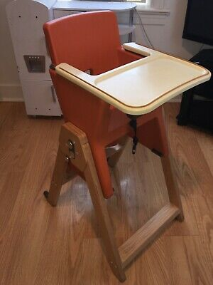 HiLo Joovy Highchair Orange All in One wooden 6 months to 6 years Infant Toddler