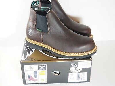 99d1318978c6 Georgia Giant Romeo Steel Toe Work Shoes - Size 9.5 Wide Mens - Gr530 - New