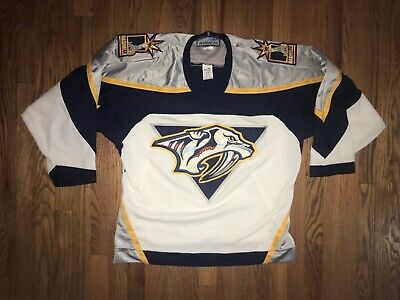 1e9f09dd AUTHENTIC VINTAGE REEBOK NHL Nashville Predators Hockey Jersey Size ...