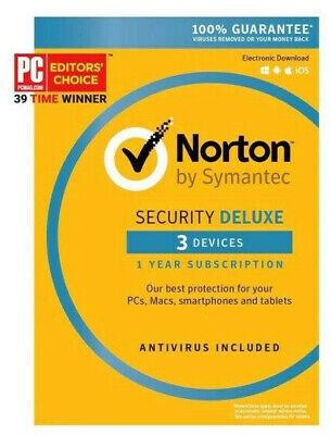 Norton By Symantec Security Deluxe 1 Year for 3 Devices - Region North America