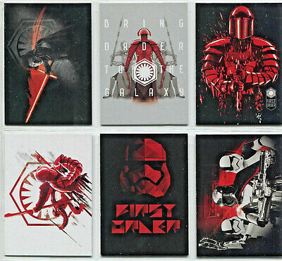 Star Wars - Journey To The Last Jedi - Darkness Rises Complete 6 Card Chase SET