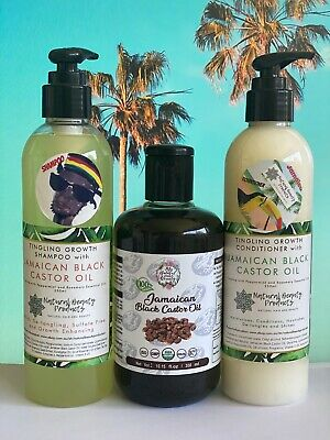JAMAICAN BLACK CASTOR OIL-HAIR GROWTH SHAMPOO and CONDITIONER