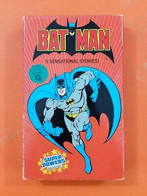 BATMAN 5 Sensational Stories NR 1985 Warner BETA MAX TAPE