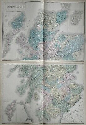 'Scotland' by Sidney Hall (on two large sheets) published in Edinburgh 1856