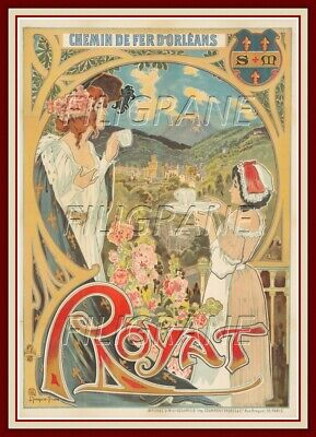 ROYAT Ryow-REPRODUCTION A3+(*) d'1 AFFICHE VINTAGE/RéTRO (BR*)