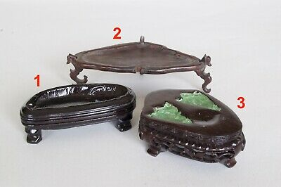 Chinese Antique Carved Pierced Hardwood Display Stand Base Jade etc (5)