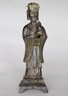 Chinese Bronze Figure (Wenchang Diety of literature & culture) Ming-Qing dynasty