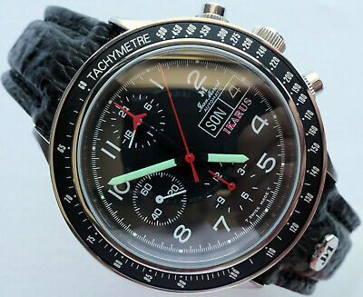Jean Marcel Military Aviator Pilot Car Accessory Lemania 5100 Chronograph Watch