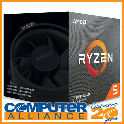 AMD AM4 Ryzen 5 3600X Six Core 3.8GHz 95W CPU 100-100000022BOX