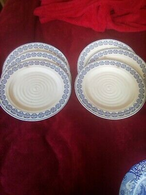 Sophie Conran Portmeirion Blue And White Dinner Plates New