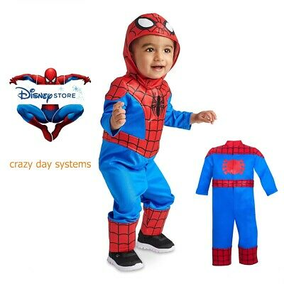 NWT Disney Store Marvel Spiderman Costume 18/24 Months Baby  2 piece Authentic