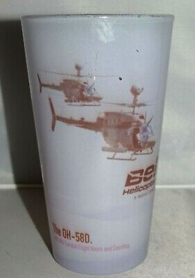 Bell Helicopter OH-58F OH-58D 16oz. Pint Drinking Glass Cup Textron Company