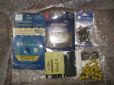 10+LB Huge Lot Jewelry Making Supplies Glass Beads Findings SEE DESCRIPTION