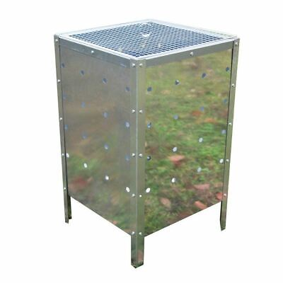 90 Litre Square Galvanised Incinerator Fire Bin Garden Rubbish Burning Trash