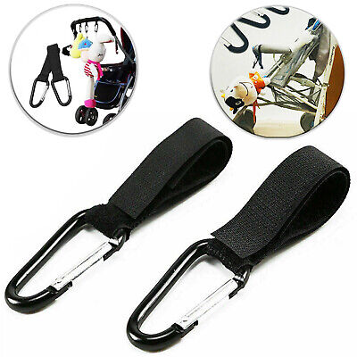 2x Universal Mummy Buggy Clips Pram Pushchair Shopping Bag Hook Carabiner Clip