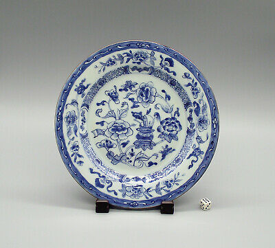 Fine 18thC Chinese Blue & White Porcelain Plate Kangxi Period ca1720 (5)