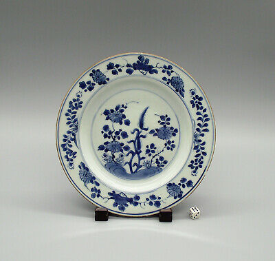 Fine 18thC Chinese Blue & White Porcelain Plate Kangxi Period ca1710 (6)