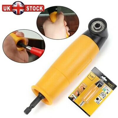 35 mm 90 Degree Right Angled Chuck Drill Bit Driver Corner Adapter Screwdriver