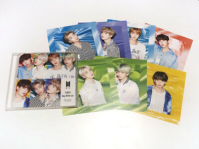 """BTS """"Lights/Boy With Luv"""" Japan Official Fanclub Limited CD + 7 Jacket cards"""